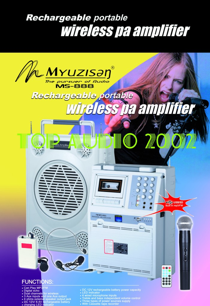 harga Ms888 speaker portable amplifier pa wireless meeting toa Tokopedia.com