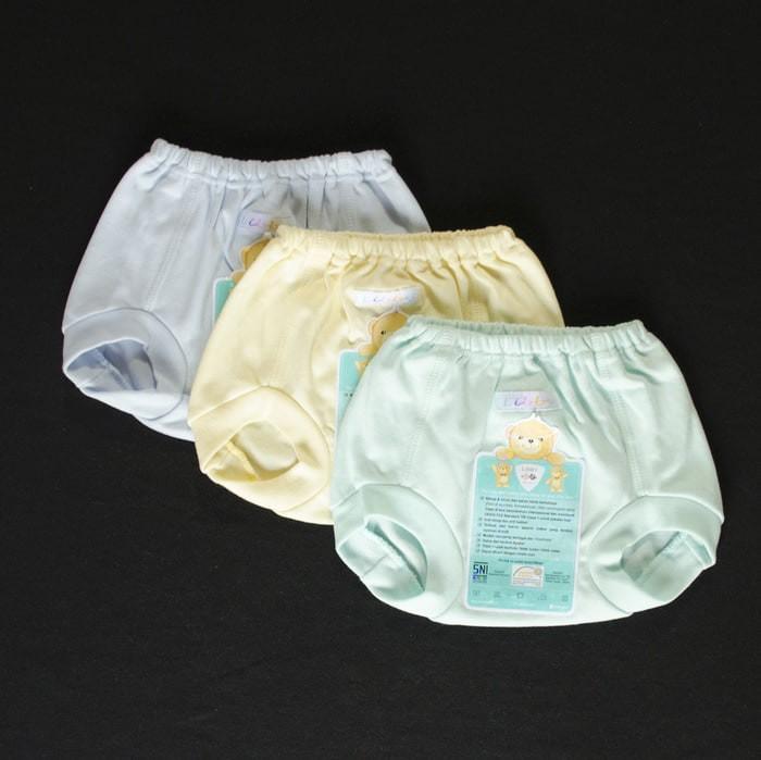 LIBBY 3 Pcs Celana Pop Newborn (6-12) POLOS Bayi / Baby Warna
