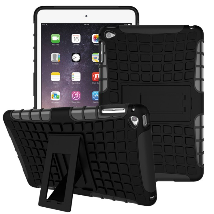 harga Casing rugged armor ipad mini 1 2 3 4 kick standing soft case cover Tokopedia.com