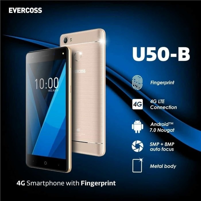 harga Evercoss u50b winner y smart pro - 1gb/8gb + fingerprint sensor Tokopedia.com