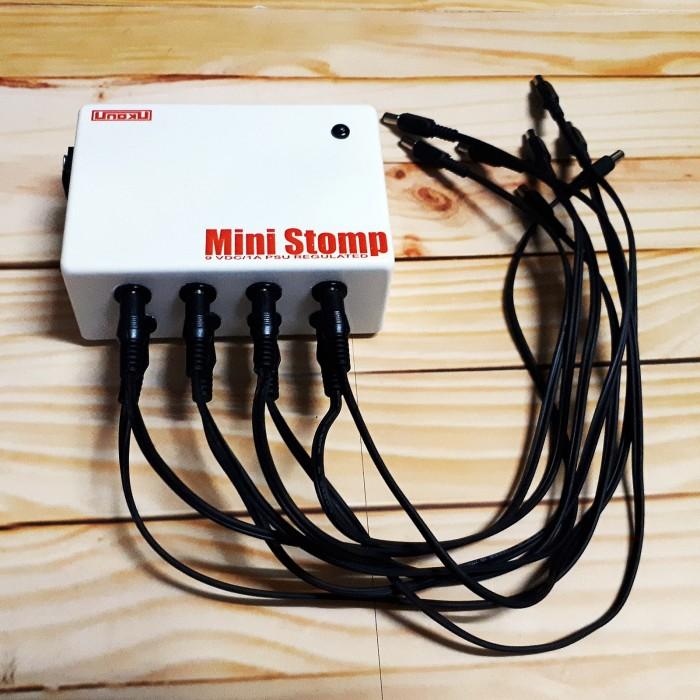 harga Unoku Mini Stomp Power Supply Efek Gitar 9volt 8port Dc 1000ma Stabil Tokopedia.com