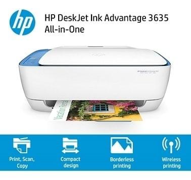... Printer HP DeskJet Ink Advantage 3635 All in One Wireless Wifi direct