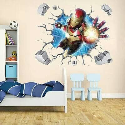 harga Wallpaper 3d wall sticker ironman iron man avenger poster promo murah Tokopedia.com