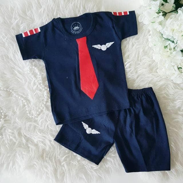 harga Setelan pilot navy size s baju stelan profesi bayi anak murah grosir Tokopedia.com