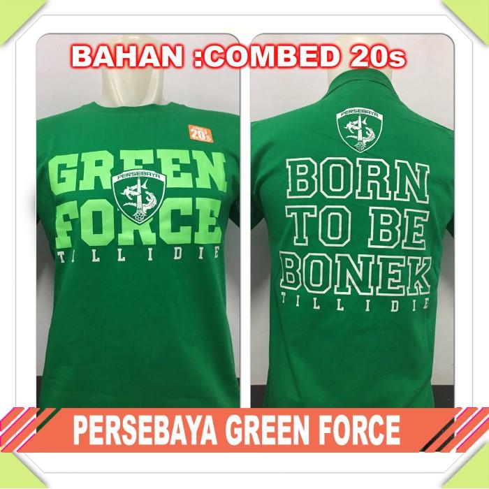 harga Kaos baju bola club indo persebaya green force Tokopedia.com