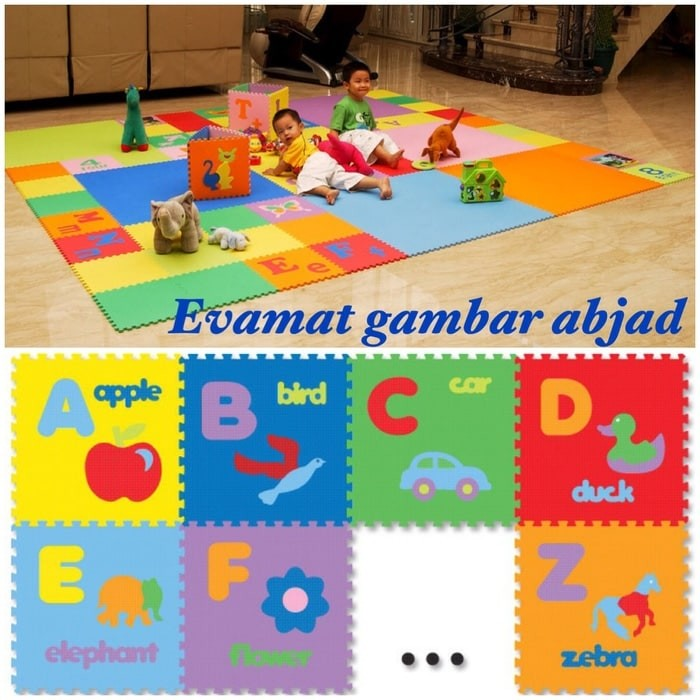harga Evamats puzzle karet abjad gambar isi 26 uk 30x30x1cm Tokopedia.com