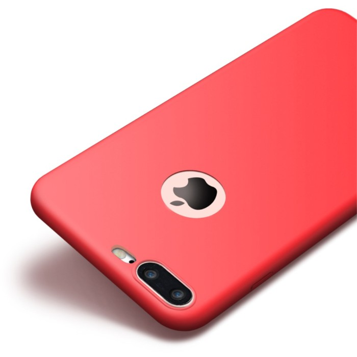 Cafele iPhone 7 Plus Extra Matte Shell TPU Soft Case Casing - Red