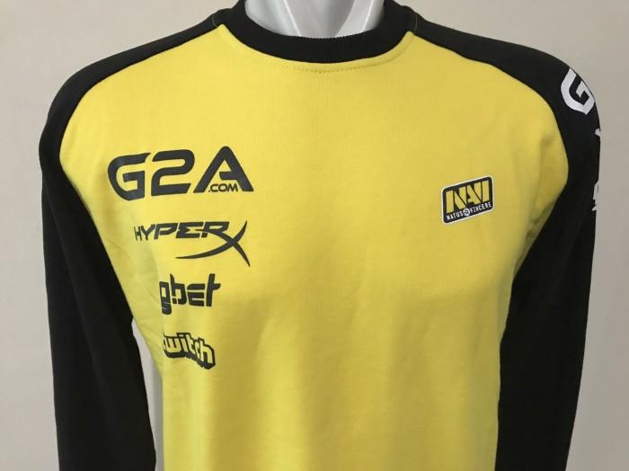 Baju Gaming - Sweater Gaming Navi Natus Vincere Black Yellow 2017
