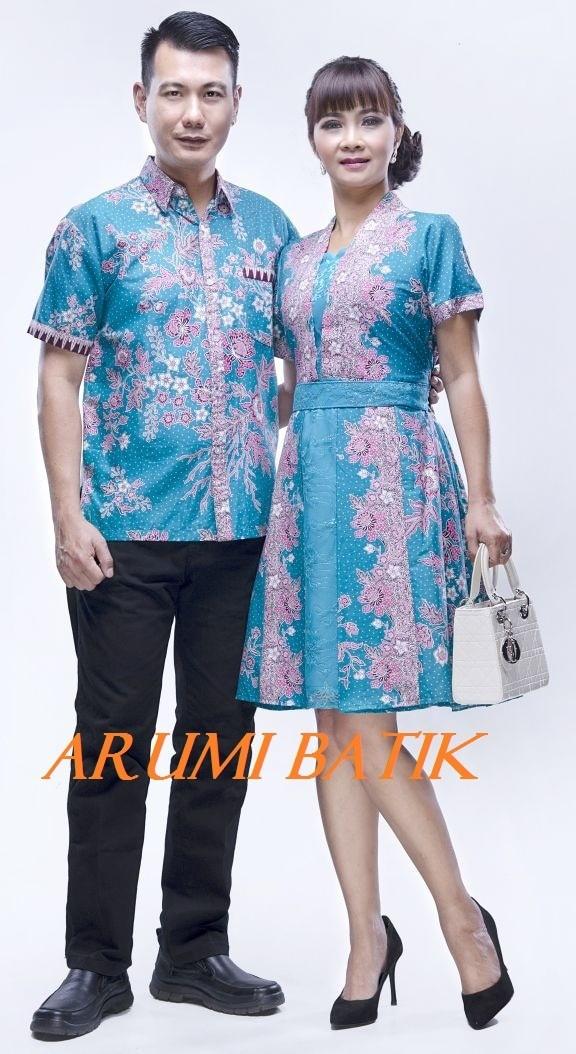 harga Sarimbit / pasangan / couple / keluarga / seragam batik 1135 tosca Tokopedia.com