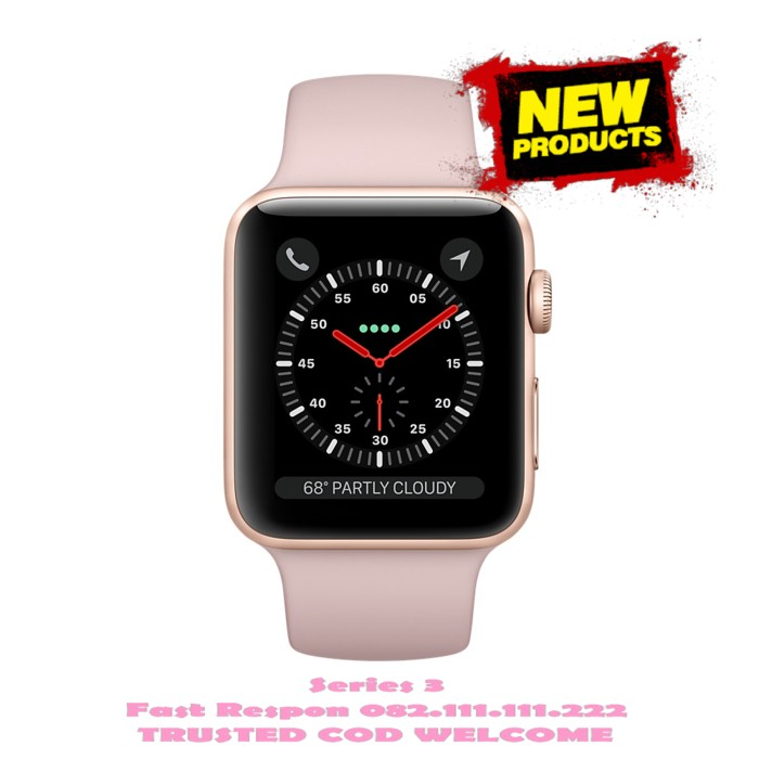 Apple Watch 2 Series 3 38mm Gold Aluminum Case with Pink Sand GPS