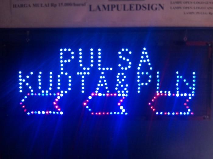 harga Tulisan lampu led sign display pulsa kuota pln biru -like running text Tokopedia.com