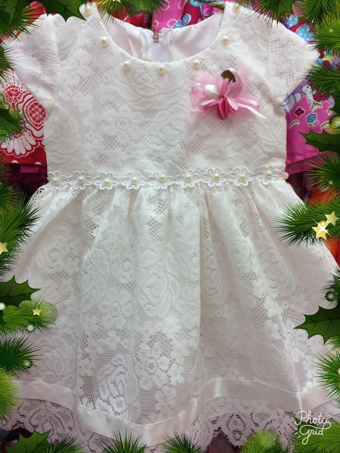 Dress / Gaun Pesta Bayi / Anak - Motif Full Brukat