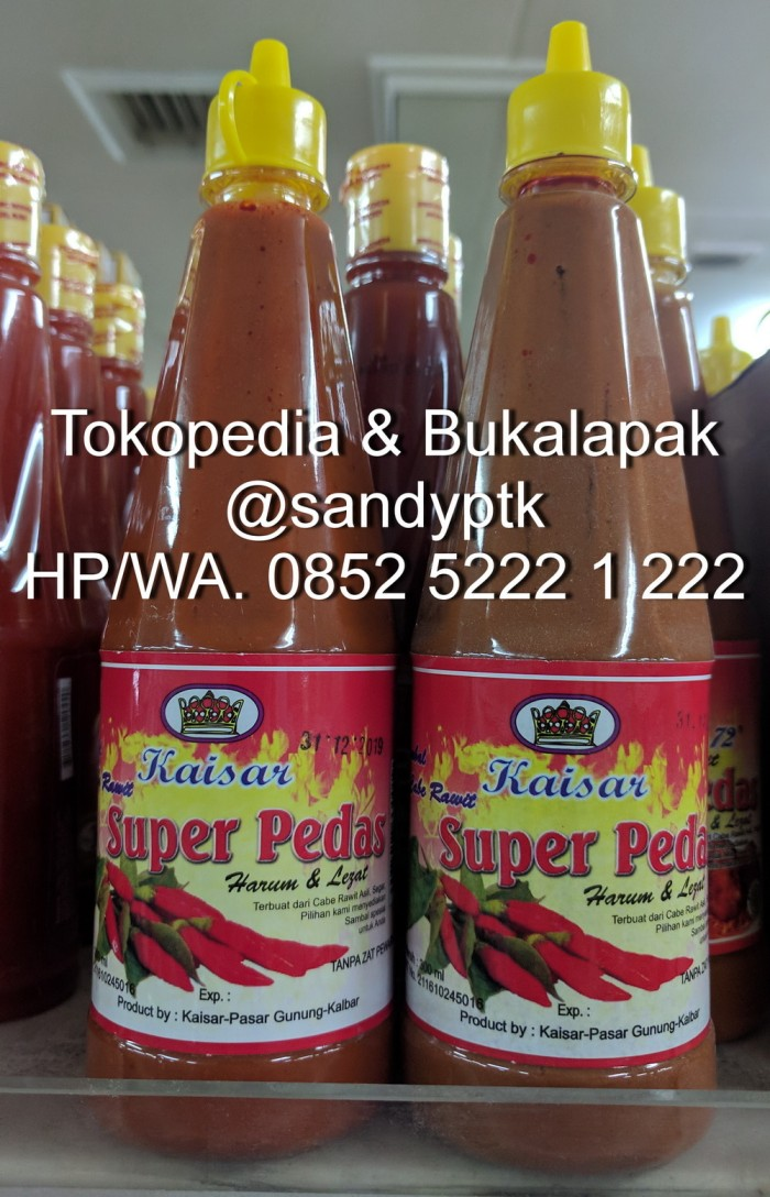 harga Sambal cabe rawit kaisar singkawang - super pedas Tokopedia.com