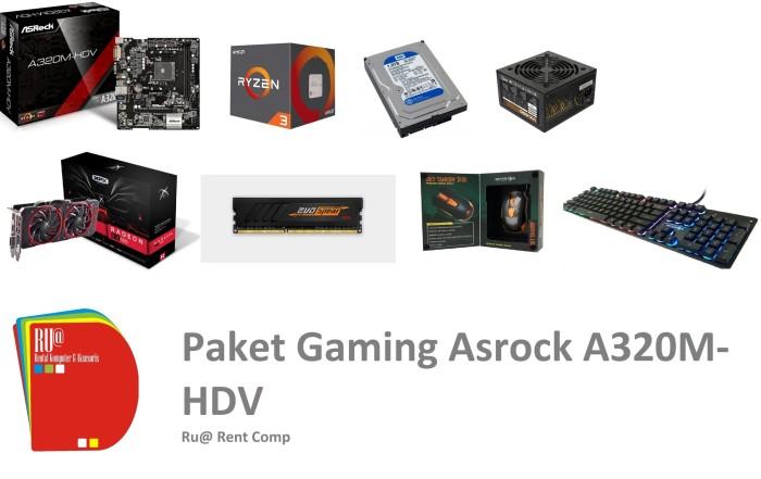 Jual Paket Gaming Asrock A320M-HDV - DKI Jakarta - Berkah Al-Hidayah |  Tokopedia