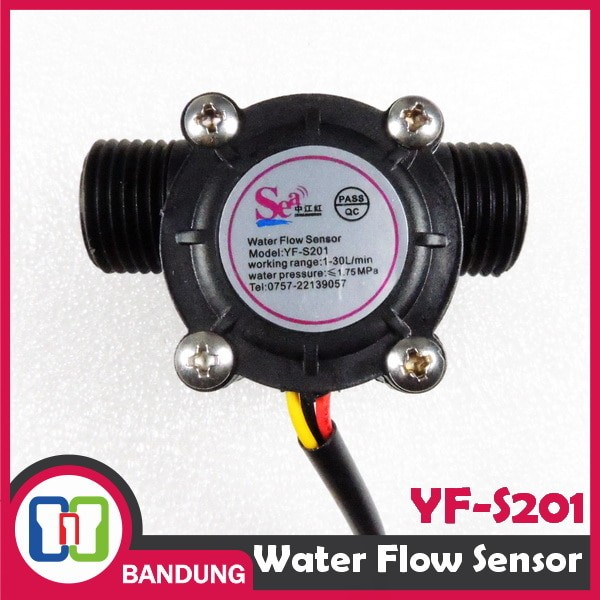 harga [cnc] yf-s201 water flow sensor aliran air hall 1/2  1-30l/min 2.0mpa Tokopedia.com