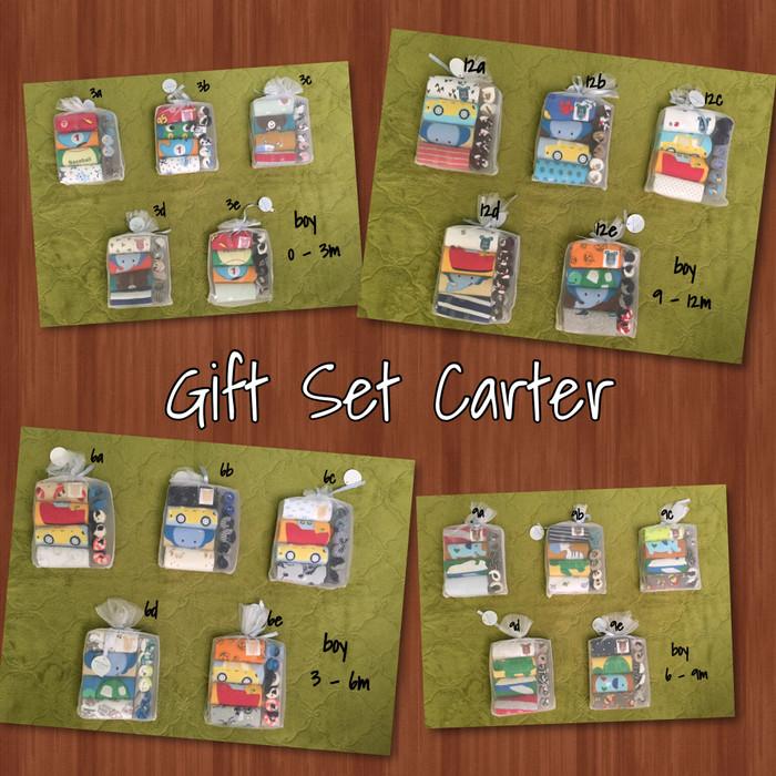 harga Boy - gift set carter / 4 jumper lengan pendek & 3 kaos kaki Tokopedia.com