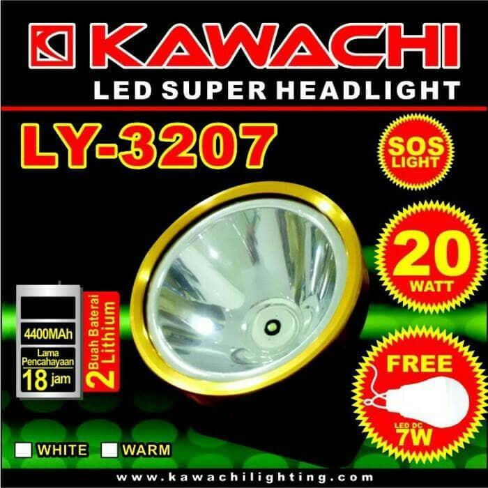 harga Senter kepala kawachi [ly-3207]- 20w - rechargeable Tokopedia.com