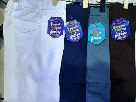harga (size 31, 32, 33) celana seragam sekolah smp sma panjang mampank Tokopedia.com