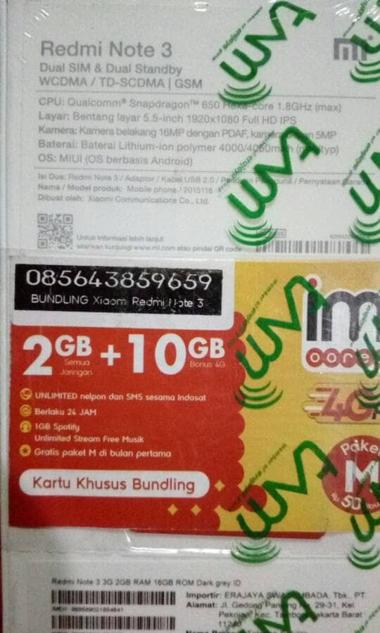 harga Hp xiaomi redmi note 3 pro ram 2/16gb garansi resmi tam cuma 164juta Tokopedia.com