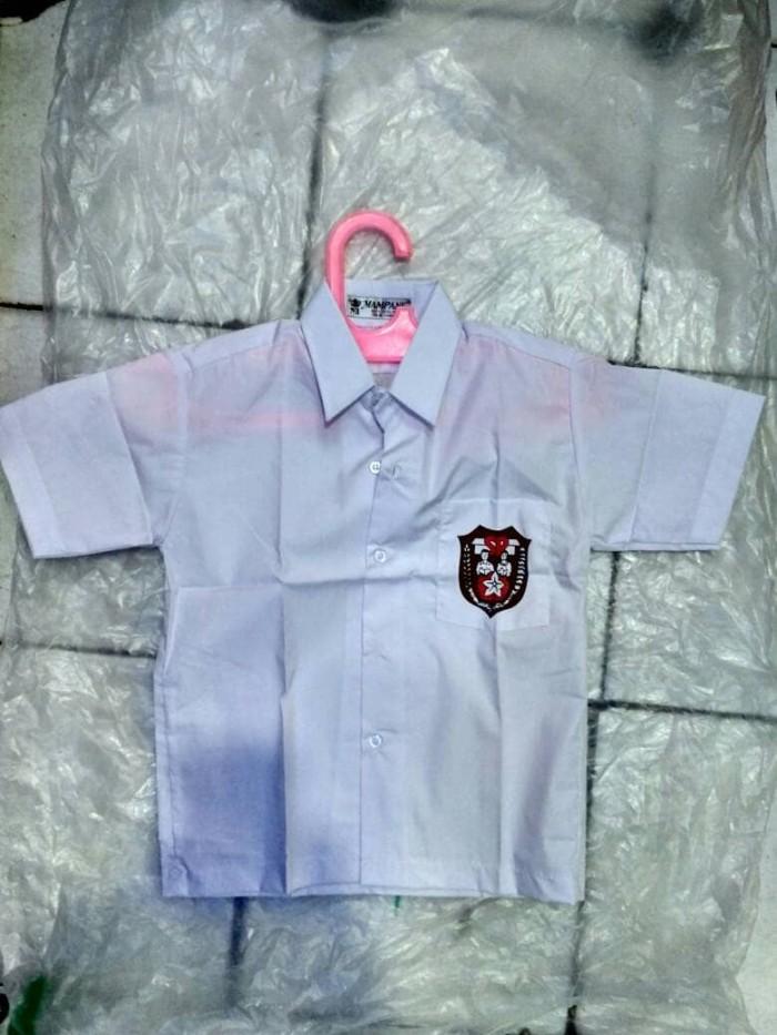 harga (size 3,4,6) baju seragam sekolah sd smp sma lengan pendek mampank Tokopedia.com