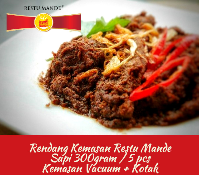 Foto Produk Rendang Kemasan Restu Mande rasa Spicy Hot dari Rendang Padang Kemasan