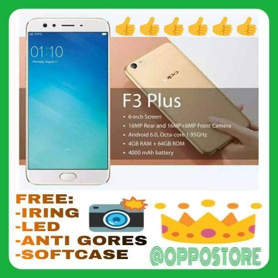 harga Oppo f3 plus ram 4/64gb garansi resmi oppo indonesia 1 tahun Tokopedia.com