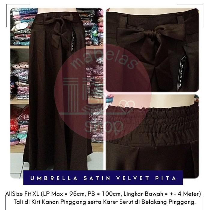 harga Rok payung satin velvet pita lebar polos panjang maxi skirt coklat tua Tokopedia.com