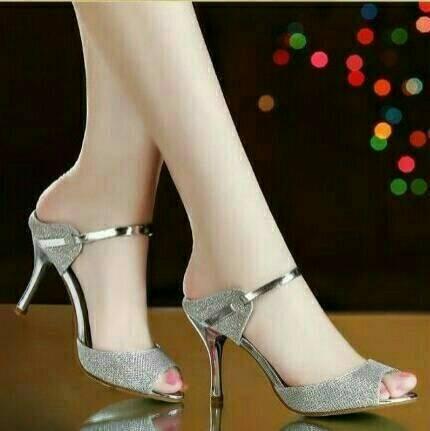 harga Sandal high heel silver glitar lancip heels Tokopedia.com