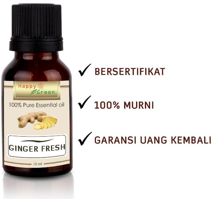 Foto Produk Happy green ginger fresh essential oil (10ml) - Minyak Jahe Murni dari Happy Green Garden - JKT