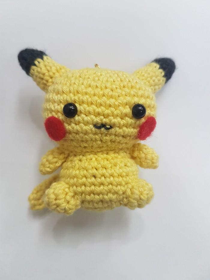 Jual Boneka Rajut, Knitting Doll Pokemon Pikachu Sedang, Medium ...