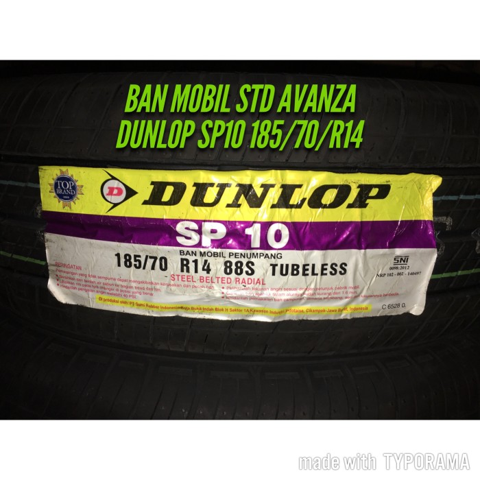 Harga Ban Dunlop Avanza Travelbon.com
