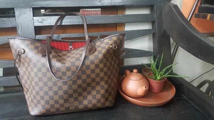 Foto Produk LV Louis Vuitton Neverfull Damier Authentic Branded Tote Bag - SOLD dari PIKOE NIKOE