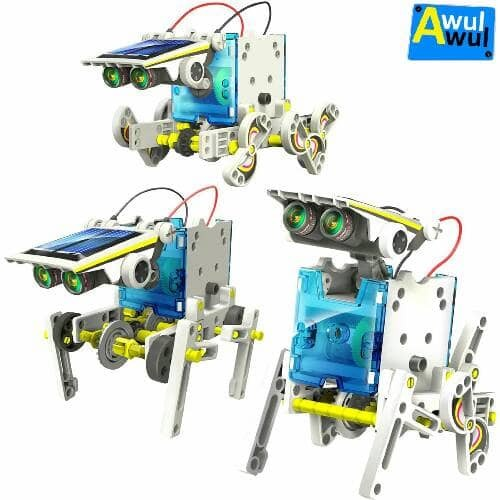 harga Mainan Edukasi 14 In 1 Robot Wall-e Tenaga Matahari | Diy Toys Kids Tokopedia.com