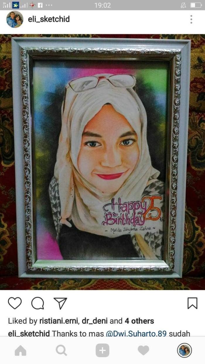 Jual Kado Lukisan Sketsa Wajah Realis Karikatur Satu Wajah Jakarta Selatan Tira Art Lukis Wajah