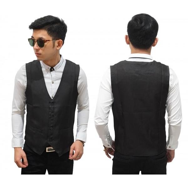 harga Vest formal basic black/ rompi hitam fashion casual pria premium Tokopedia.com