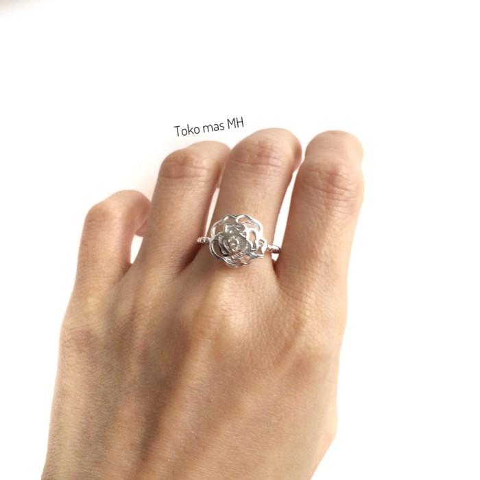 harga Cincin  mas putih model bunga Tokopedia.com