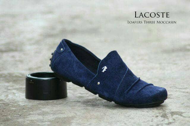 Jual Free Bonus !!! Sepatu Casual Murah Lacoste Slipon Kulit Suede ... 3663ce0c16