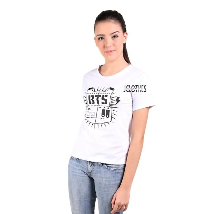 JCLOTHES Kaos Cewe Tumblr Tee Kaos Wanita Yes Weekend Putih 4 Source BTS