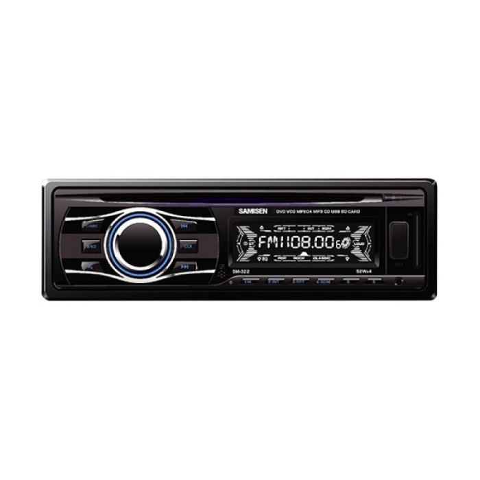 harga Samisen sm-322 dvd single din hitam head unit mobil Tokopedia.com