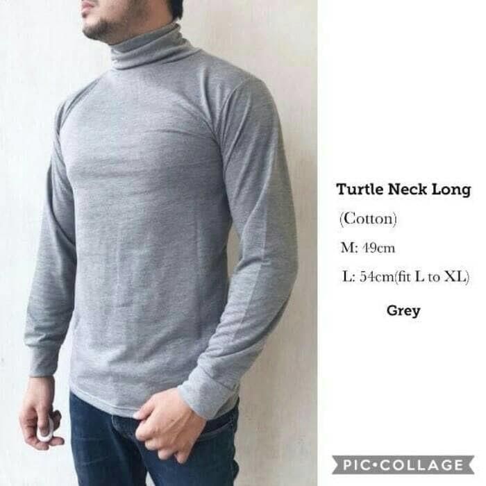 harga Kaos Baju Loongslevee Turtle Neck Turtleneck Lengan Panjang Distro Tokopedia.com