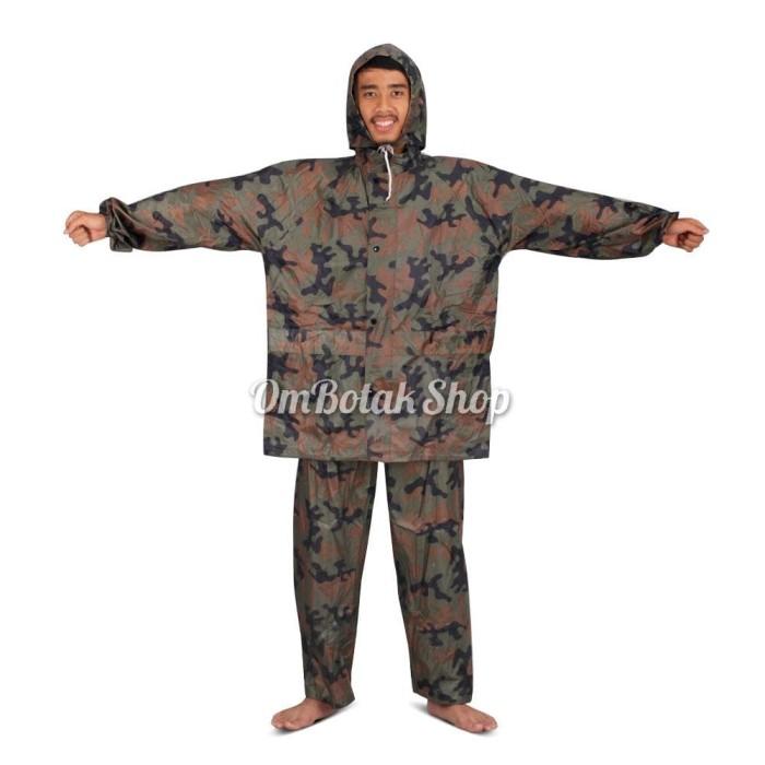 harga Jas hujan jaket celana setelan loko 022 army raincoat motor Tokopedia.com