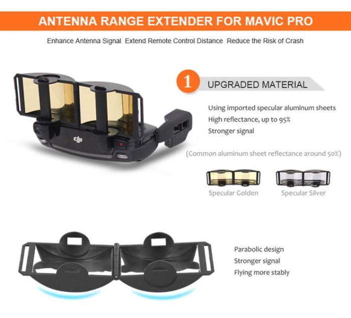 harga Sunnylife antenna range extender for dji mavic pro - signal booster Tokopedia.com