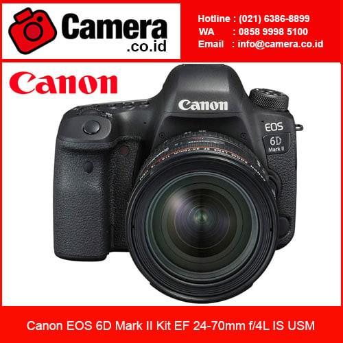 harga Canon eos 6d mark ii kit ef 24-70mm f/4l is usm /kamera slr canon Tokopedia.com