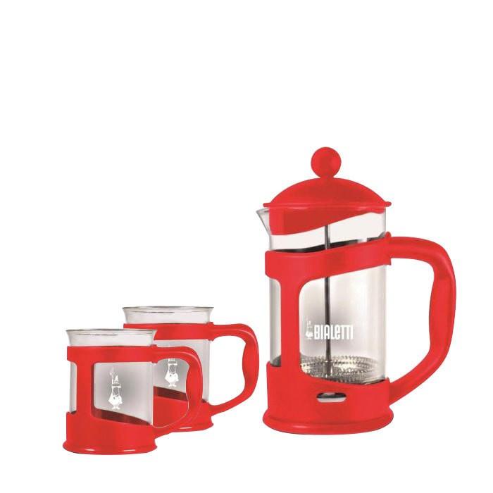 Jual Bialetti – Coffee Press 800ml Set (Red) Harga Promo Terbaru