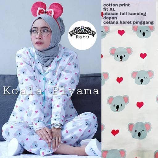 Murah Koala Piyama Pajamas Setelan Baju Tidur Katun Jepang Bestselle