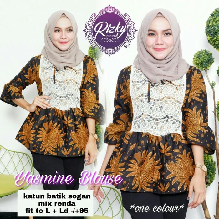 harga Yasmine blouse /blus batik kerja/blus batik kantor Tokopedia.com