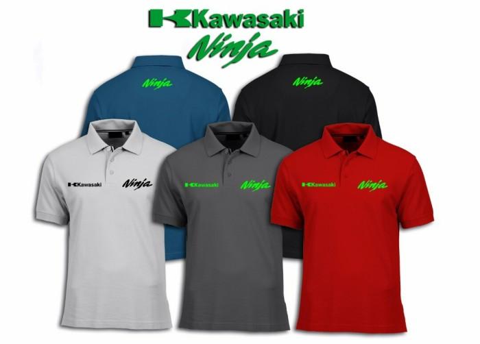 harga Big size 3xl-7xl polo shirt baju kaos kerah motor kawasaki ninja Tokopedia.com