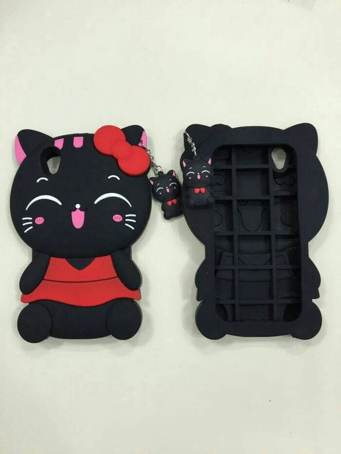 CASE VIVO Y55 | CASE3D KUCING | SOFTCASE 3D BONEKA KUCING