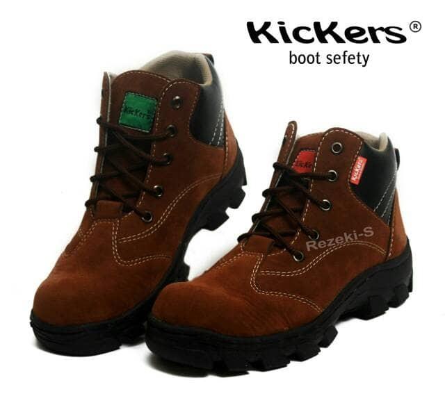 harga Sepatu safety boots kickers cui terlaris termurah Tokopedia.com