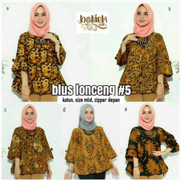 harga Blus lonceng batik modern - blouse batik sogan - baju batik solo Tokopedia.com